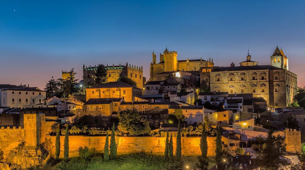 Vistas ciudad de Cáceres, Extremadura