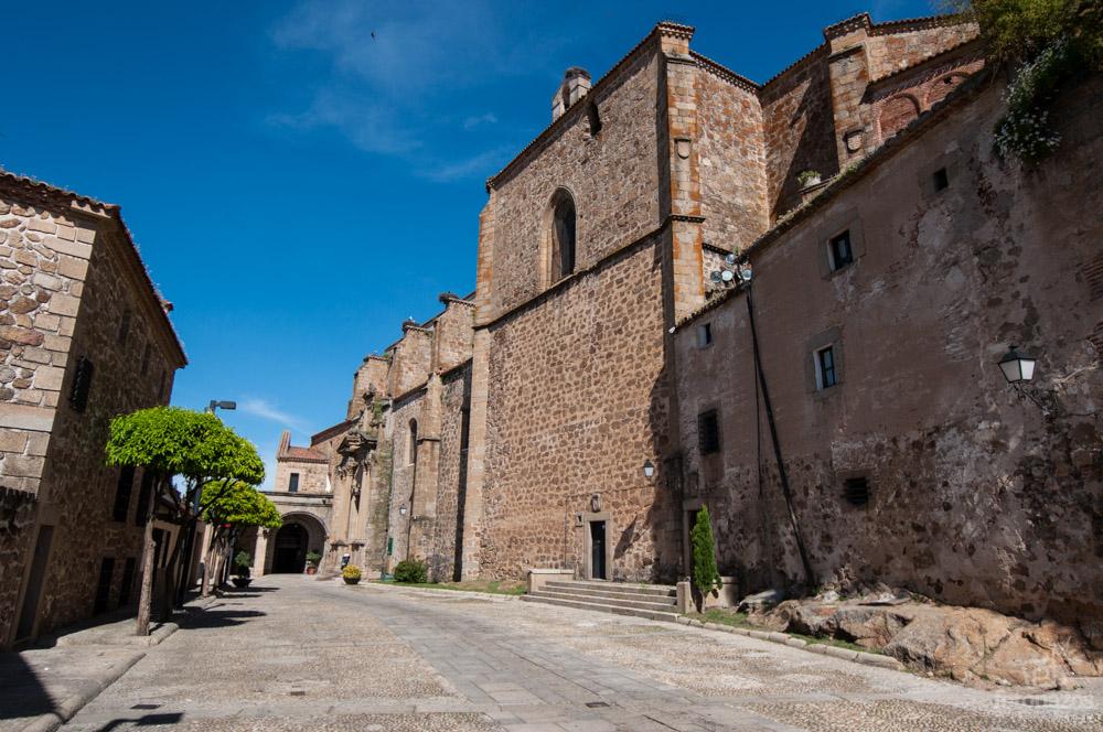 Calle Parador de Plasencia, Extremadura, España